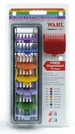 Komplet Plastikowych Kolorowych Nasadek W Pudełku Do Maszynek WAHL TAPER (Wszytskie Rodzaje), MACIG CLIP, ICON, LEGEND, BALDING  (3, 6, 10, 13, 16, 19, 22, 25mm)