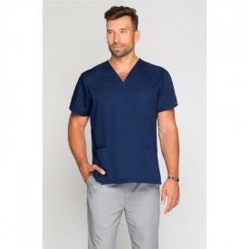 Bluza Medyczna Męska Granatowa, Rozmiar S