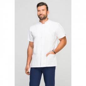 Bluza Medyczna Męska Ze Stójką Biała, Rozmiar XL