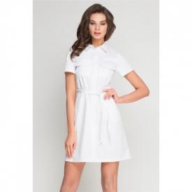 Sukienka Medyczna Sportivo Biała, Rozmiar 40