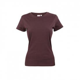 T-Shirt Damski Brązowy, Rozmiar L
