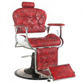 Gabbiano Fotel Barberski Premier Czerwony