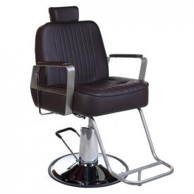 Fotel Barberski HOMER BH-31237 Brązowy