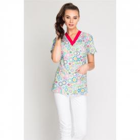 Bluza Medyczna Damska Print, Rozmiar XL