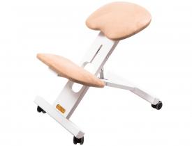 Krzesło ergonomiczne Ergo-Office Alcantara White #1