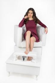 Fotel Do Pedicure Spa I Obrotowy #4