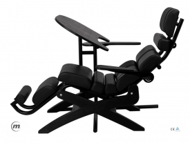 Fotel + Stolik Pod Laptopa Zerog Black S