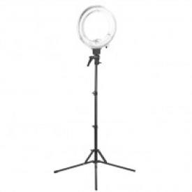 """Lampa Light Ring 12"""" 35w Fluoresce Biała + Statyw"""