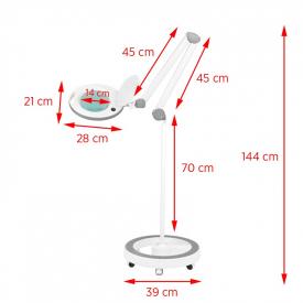 Lampa Lupa Elegante 6014 60 Led Smd 5d Ze Statywem #6