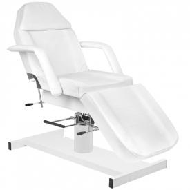 Zestaw Fotel 210 + Taboret 312 Biały + Prześcieradło Fliselinowe #2