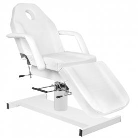 Zestaw Fotel 210 + Taboret 312 Biały + Prześcieradło Fliselinowe #4