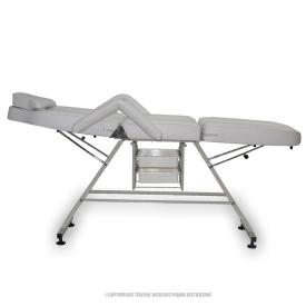 Fotel Kosmetyczny Standard Max Biały #4