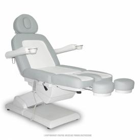 Fotel Kosmetyczny S-Lux -Duo Biały/Popiel #2