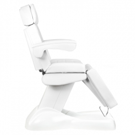 Fotel Kosmetyczny Elektryczny Lux 4m Biały / Buk #6
