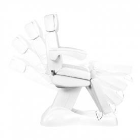 Fotel Kosmetyczny Elektryczny Lux 4m Biały / Buk #7