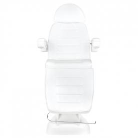 Fotel Kosmetyczny Elektryczny Lux 4m Biały / Buk #8