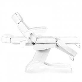 Fotel Kosmetyczny Elektryczny Lux 4m Biały / Buk #10