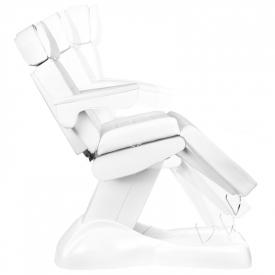 Fotel Kosmetyczny Elektryczny Lux 4m Biały / Buk #12