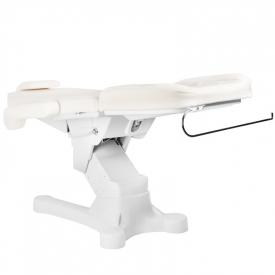 Fotel Kosmetyczny Elektr. A-207 White/Ivory (4 Silniki) #6