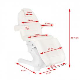 Fotel Kosmetyczny Elektr. A-207 White/Ivory (4 Silniki) #8