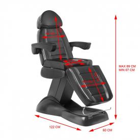 Fotel Kosmetyczny Elektryczny Lux Czarny #13