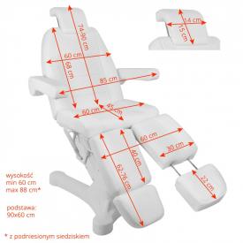 Fotel Kosmetyczny Elektr. A-207c Pedi White/Ivory (5 Silników) #5