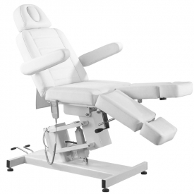 Fotel Kosmetyczny Elektr. Azzurro 706 Pedi 1 Siln. Biały #7