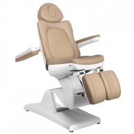 Fotel Kosmetyczny Elektr. Azzurro 870s Pedi 3 Siln. Cappuccino #3