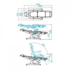 Fotel Kosmetyczny Elektr. Azzurro 870 3 Siln. Szary #2