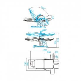 Fotel Podologiczny Elektr. Azzurro 709a 3 Siln. Cappuccino #9