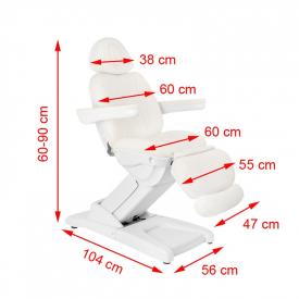 Fotel Kosmetyczny Elektr. Azzurro 872 4 Siln. Biały #9
