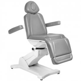 Fotel Kosmetyczny Elektr. Azzurro 869A Obrotowy 4 Siln. Szary #4