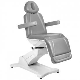Fotel Kosmetyczny Elektr. Azzurro 869A Obrotowy 4 Siln. Szary #5