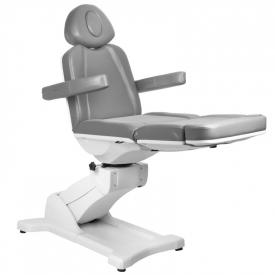 Fotel Kosmetyczny Elektr. Azzurro 869A Obrotowy 4 Siln. Szary #6
