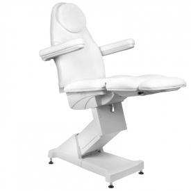 Fotel Kosmetyczny Elektr. Basic 158 3 Siln. Biały #4