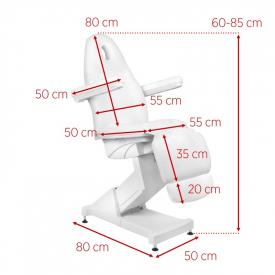 Fotel Kosmetyczny Elektr. Basic 158 3 Siln. Biały #11