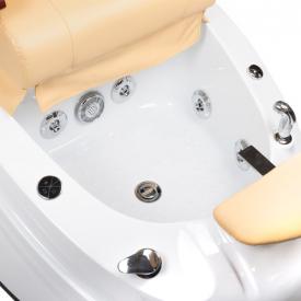 Fotel do pedicure z masażem BR-2307 Beżowy #2