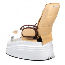 Fotel do pedicure z masażem BR-2307 Beżowy #4