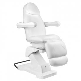 Fotel Kosmetyczny elektryczny Basik 161 obrotowy BIAŁY