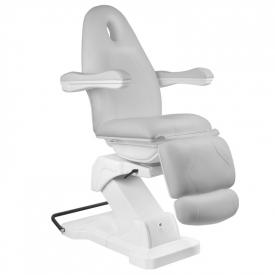 Fotel Kosmetyczny elektryczny Basik 161 obrotowy SZARY #3