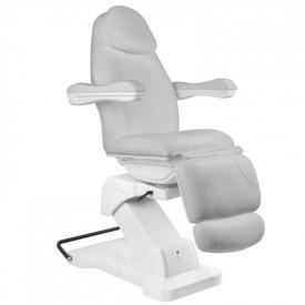 Fotel Kosmetyczny elektryczny Basik 161 obrotowy SZARY