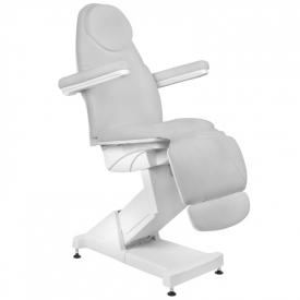 Fotel Kosmetyczny elektryczny Basik 158 3 SILN. obrotowy SZARY