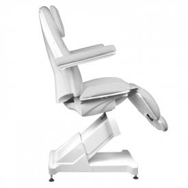 Fotel Kosmetyczny elektryczny Basik 158 3 SILN. obrotowy SZARY #5