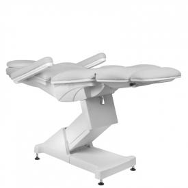 Fotel Kosmetyczny elektryczny Basik 158 3 SILN. obrotowy SZARY #6
