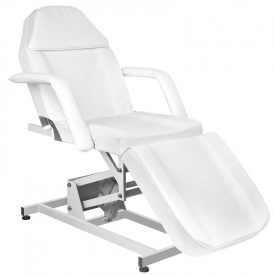 Fotel kosmetyczny elektr. Azzurro 673a 1 siln. Biały