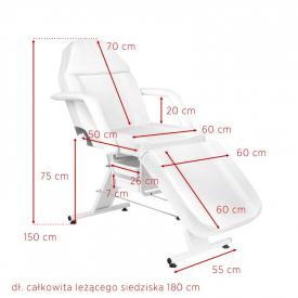 Fotel Kosmetyczny Basic 202 Biały #10