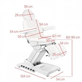 Fotel Kosmetyczny Elektr. Azzurro 872S Pedi Pro Exclusive 3 Siln. Biały #10