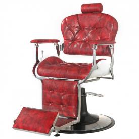 Gabbiano Fotel Barberski Premier Czerwony #2