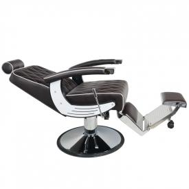 Gabbiano Fotel Barberski Imperial Brązowy #3