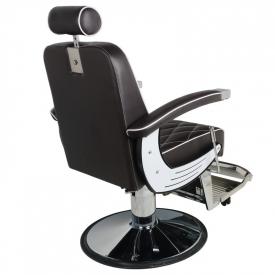 Gabbiano Fotel Barberski Imperial Brązowy #6